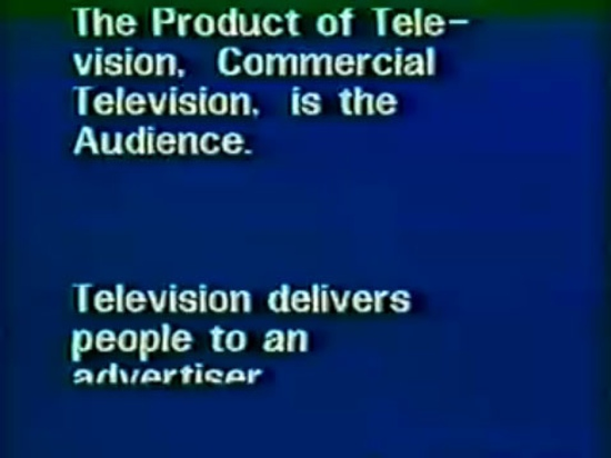 Richard Serra, Television Delivers People (1973)